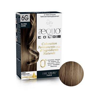 Aequo color - Coloration capilaire permanente d'origine naturelle (Blond doré 6G)