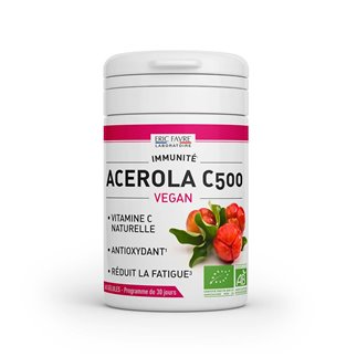 Acerola C500 - Vitamine C naturelle