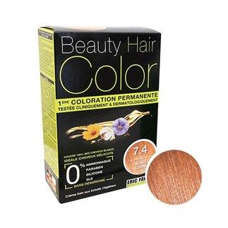 Beauty Hair Color Coloration (Blond cuivré 7.4)