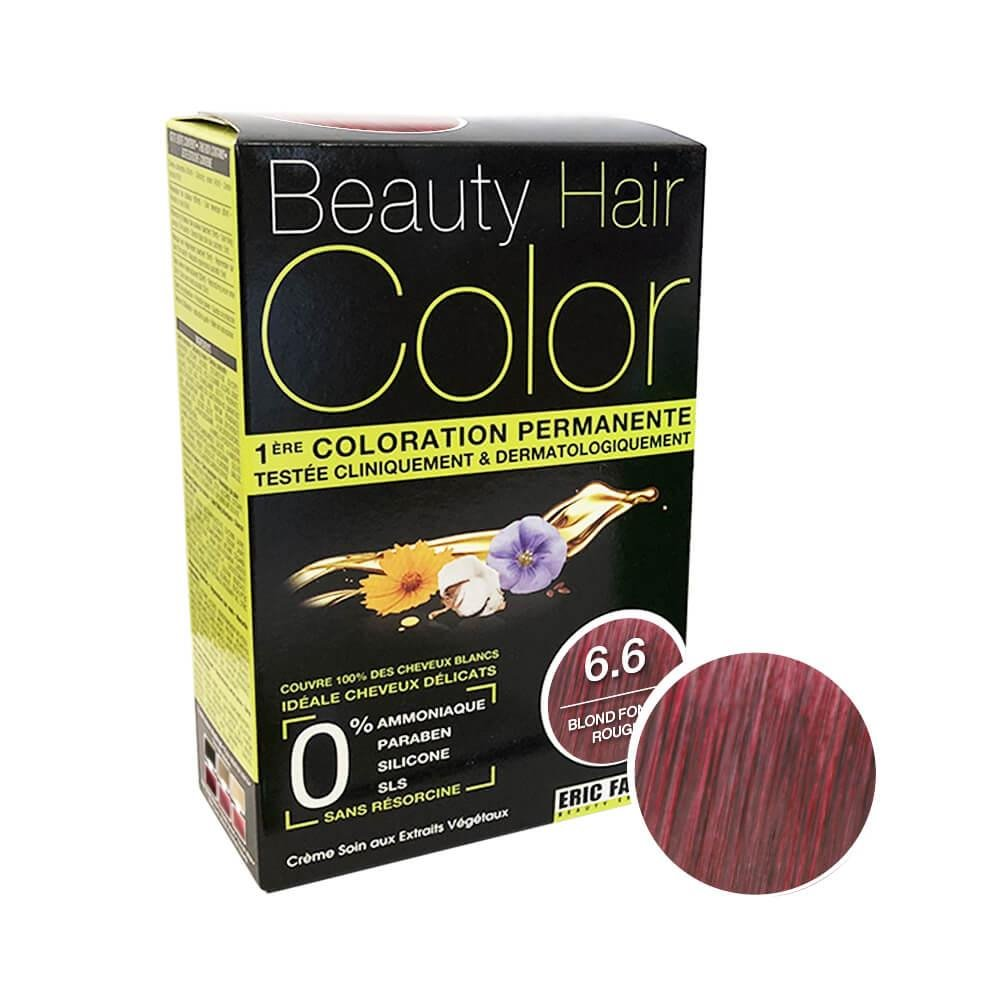 Beauty Hair Color Coloration (Blond foncé rouge 6.6)