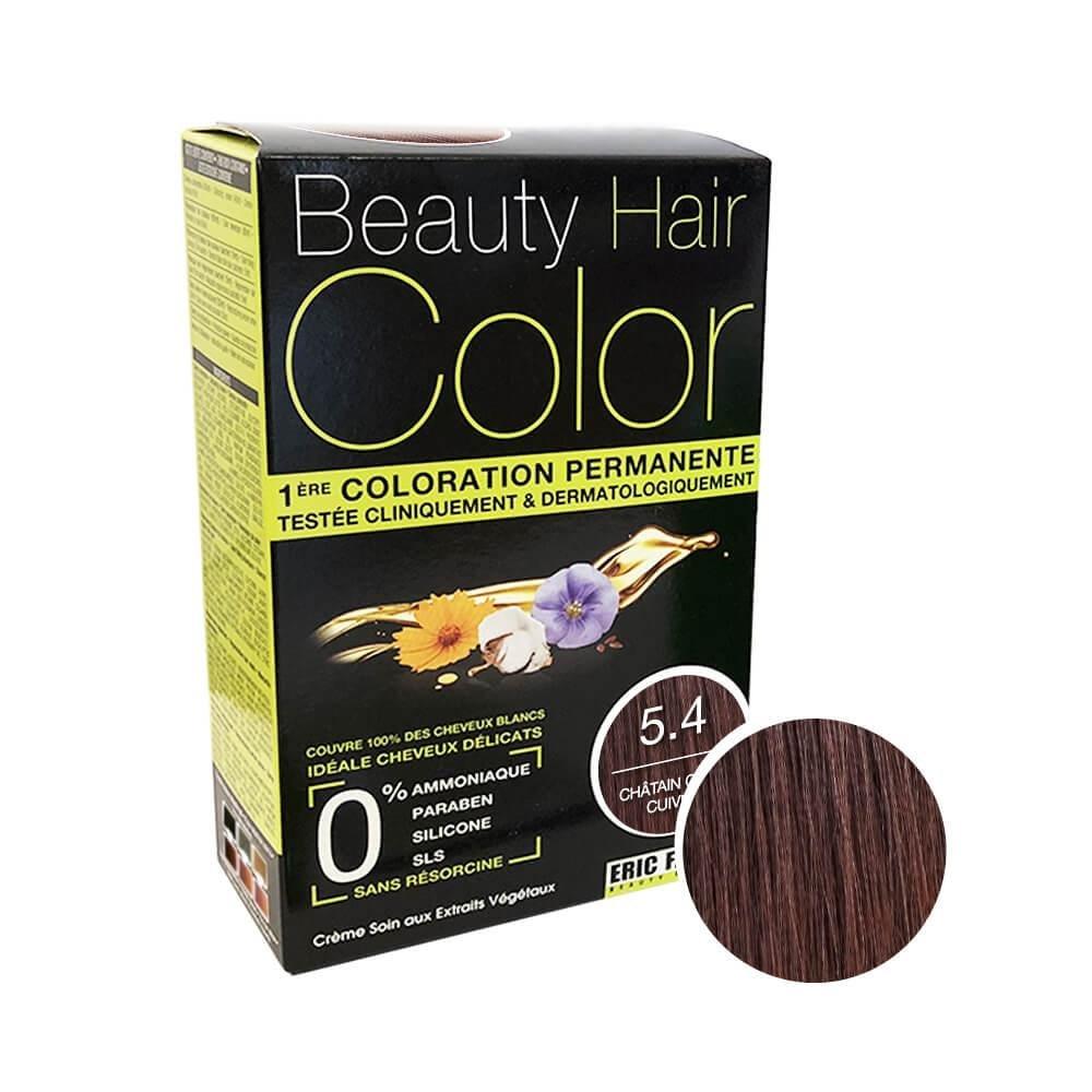 Beauty Hair Color Coloration (Châtain clair cuivré 5.4)