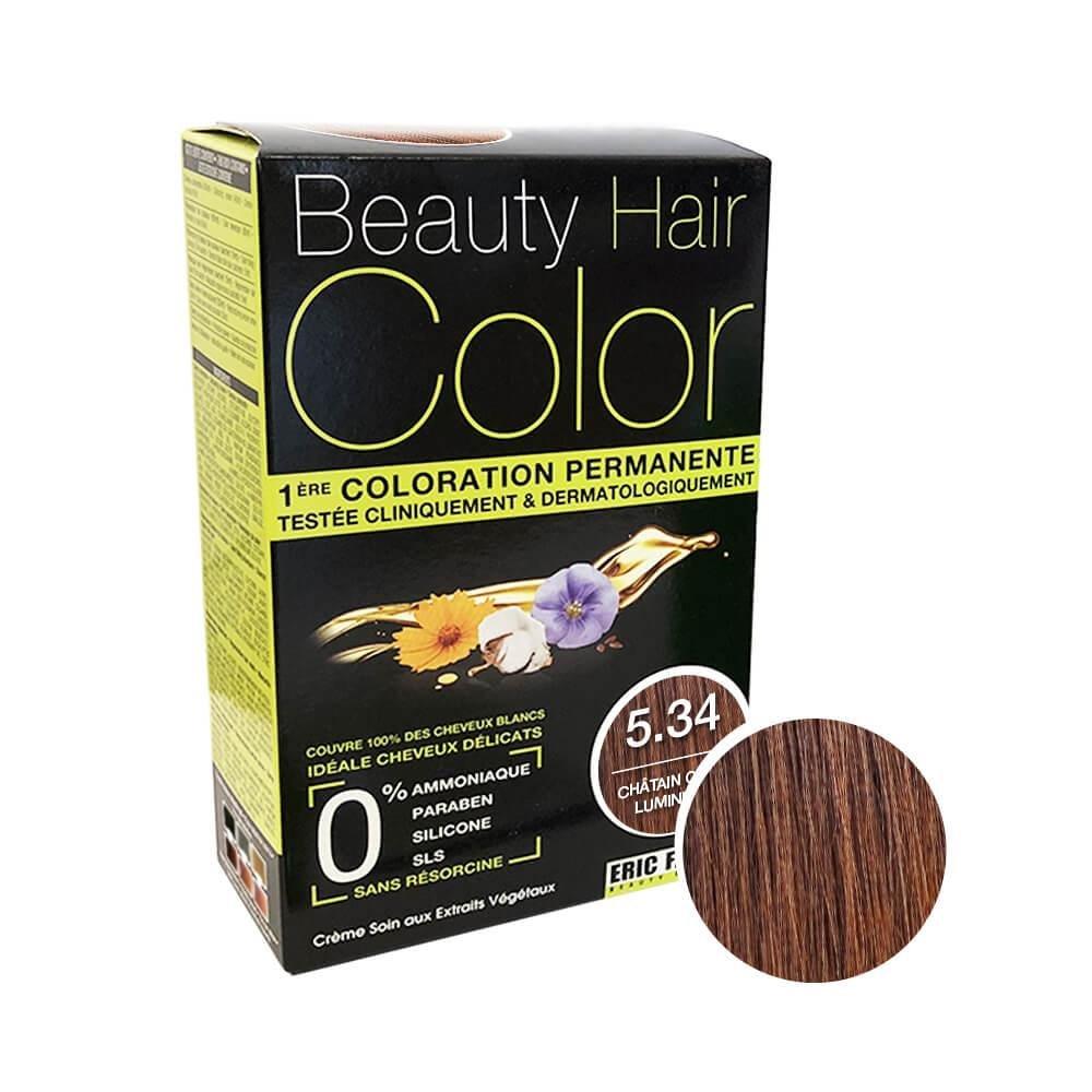 Beauty Hair Color Coloration (Châtain clair lumineux 5.34)