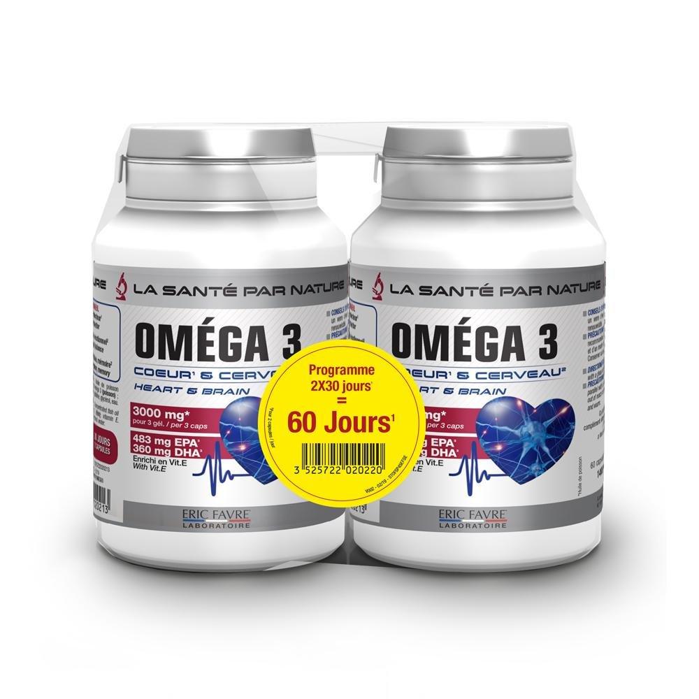 Omega 3 - Coeur et cerveau - Offre spéciale lot de 2