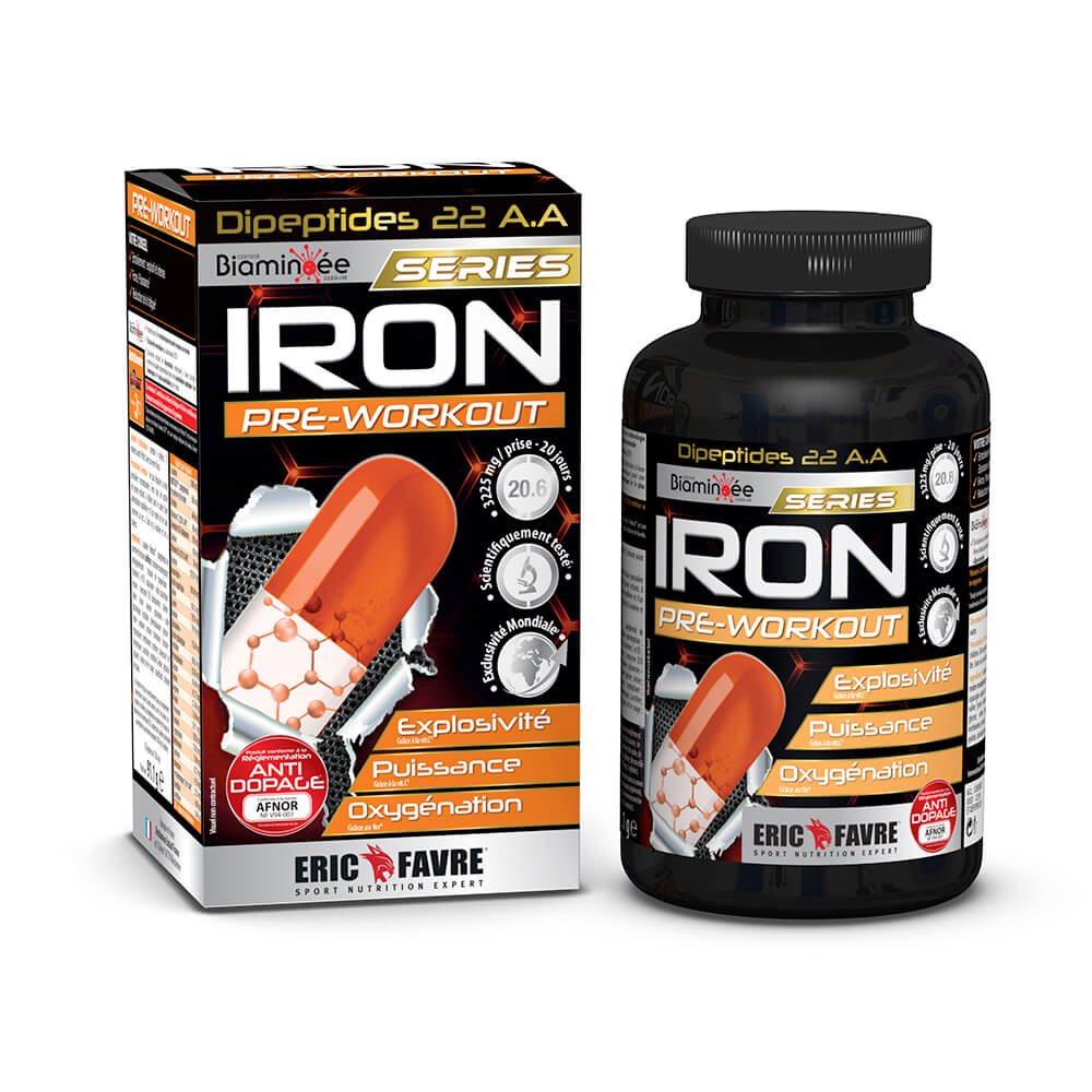 Iron Preworkout 120 Gélules, Training force & puissance