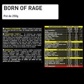 Pre Workout Booster Explosif Born Of Rage Vegan, Lot de 2