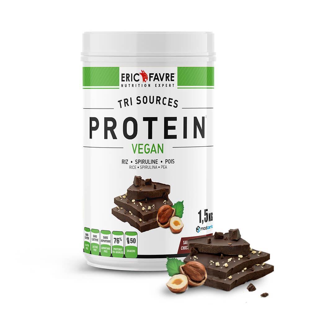 Protéines végétales tri-source, Protein Vegan, Chocolat/Noisette