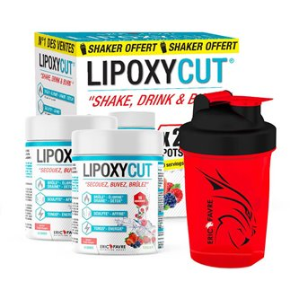 COFFRET Lipoxycut Vegan - SHAKER* OFFERT - Fruits Rouges