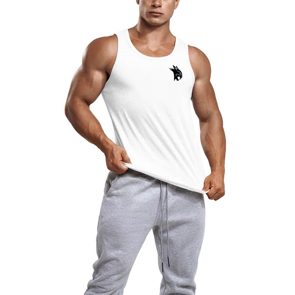 T-shirt Mens Tank (Blanc / S)