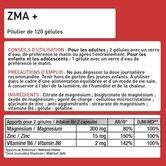 ZMA + 120 Gélules