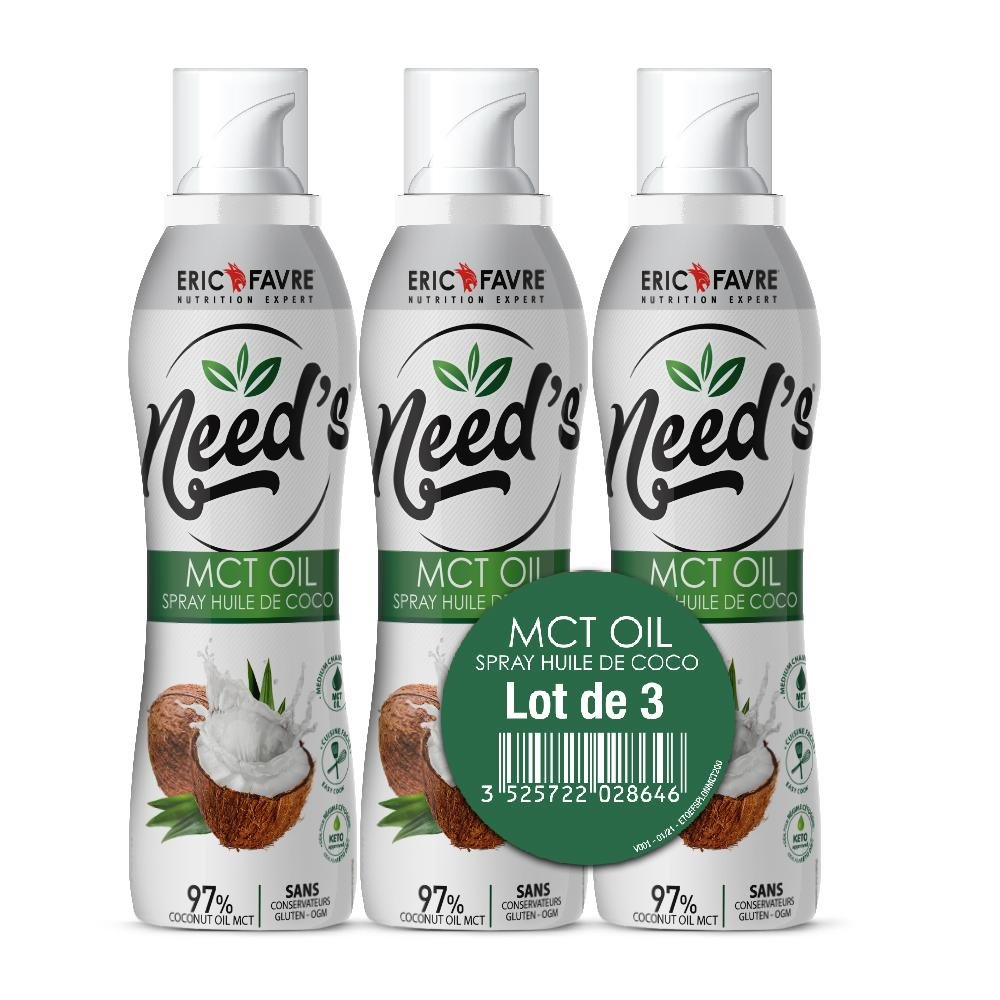 Need's MCT Oil - Spray Cuisson Coco - Lot de 3